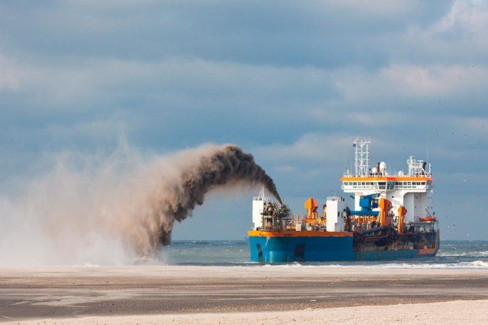 Exportación de arena