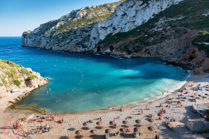 La famosa playa de la Granadella